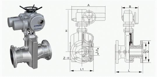 电动管夹阀图